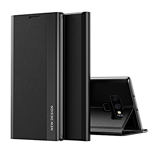 Hülle für Samsung Galaxy Note 9 Leder Hülle Handy-Hülle Clear View Standing Schutzhülle PC Handyhülle Flip Schutz Wallet Tasche Bumper Standfunktion Case für Samsung Note 9 (H,Note 9)