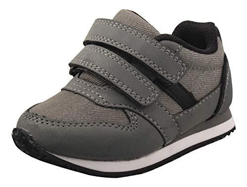 Amazon Essentials Kids' Sneaker, Grey, 9 Medium US Toddler