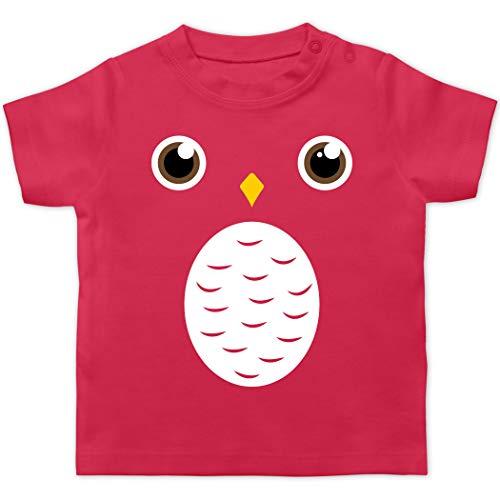 Karneval und Fasching Baby - Eulen Gruppen Kostüm V2-18/24 Monate - Fuchsia - BZ02_Baby_Shirt - BZ02 - Baby T-Shirt Kurzarm