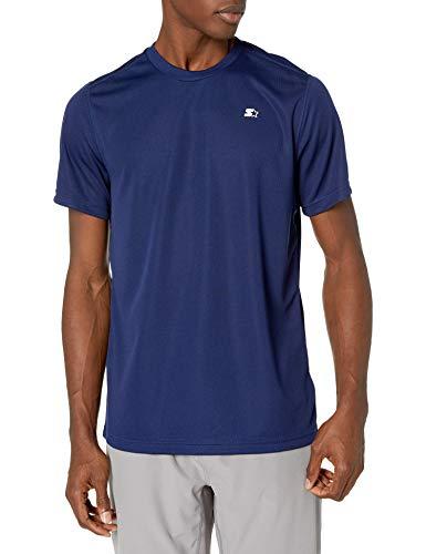Starter Men's Athletic-Fit Short Sleeve Tech T-Shirt, Amazon Exclusive, Team Navy, Medium