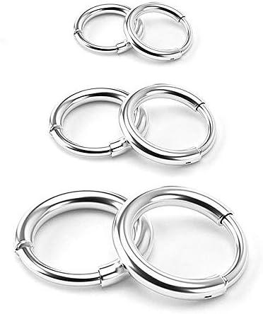 Surgical Stainless Steel Hoop Earrings Endless Small Hoop Earrings Set for Men Women Hypoallergenic product image