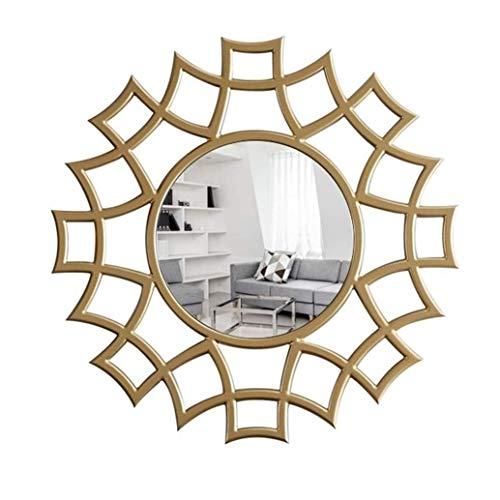 BWCGA Espejos Fondo de pared Colgante de pared Colgante de pared redondo Porche Pasillo Sala de estar Decorativo