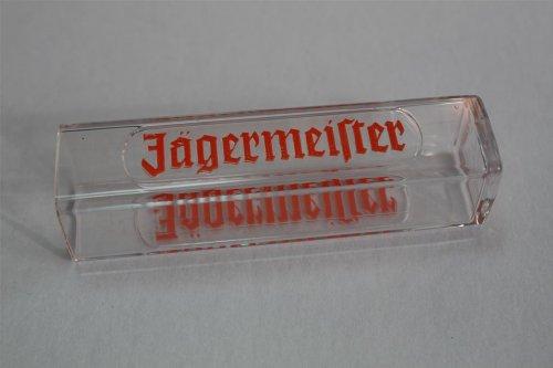 5x Jägermeister Tooter - Reagenzglas eckig geprägt 0,02