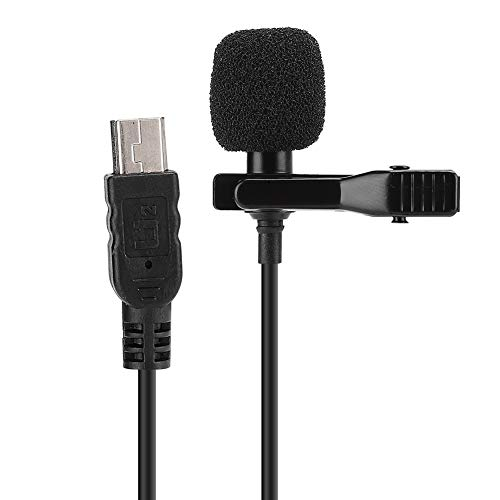 Mini-Mikrofon, digitale Spiegelreflexkamera Mini-Lavalier-Kondensatormikrofon, starkes Signal, geringes Rauschen, hohe Empfindlichkeit, Entstörung, geeignet für Live-Interviews und Videoaufnahmen