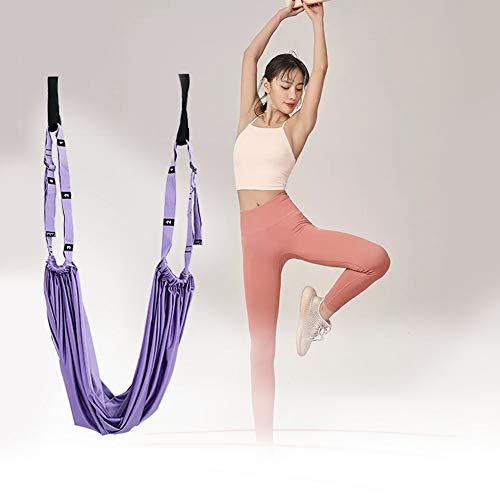 JINGBO Hamaca Yoga Antigravedad, Yoga Ballet Leg Stretching Strap Back Bend Assist Trainer, Yoga Trapecio para Colgarse y Aliviar el Dolor de Espalda, para Gimnasio, hogar