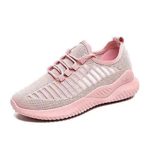 GERPY Zapatillas de Deporte de Mujer 2019 Zapatos Casuales de Moda Mujer Cómoda Transpirable Pisos Blancos Zapatillas de Deporte de Plataforma Femenina Chaussure Femme