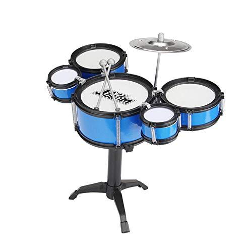 Kapokilly Kit De Batería Junior,Set De Batería para Niños Tambor De Jazz Instrumento De Percusión Set De Batería De Simulación para Niños Trono Ajustable Y Accesorios para Niños Mayores De 3 Años