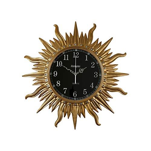 W-GZ Relojes de Pared Moderno Nórdico Minimalista De Estilo,Sala Estudio Relojes Pared Dormitorio/Hotel/Decoración La Estar (Color : White Gold Number, Size : 39 cm)