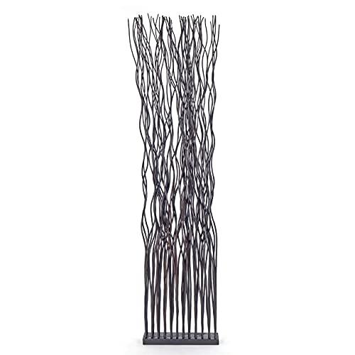 DESIGN DELIGHTS Weiden RAUMTEILER Wave | Weidenholz, 170x44 cm (HxB) | Paravent aus Weidenzweigen, Raumtrenner, Stellwand, Raum Trennwand | Farbe: braun