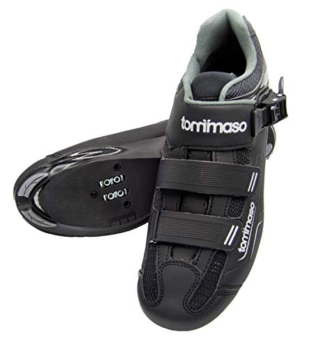 Tommaso Strada 200 Dual Cleat Compatible Road Touring Cycling Spin Shoe with Buckle - 41 Black