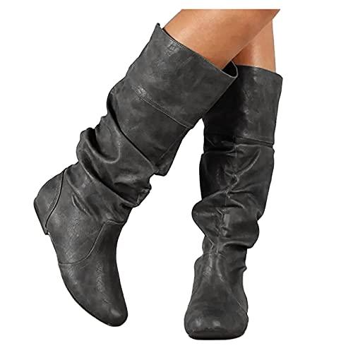 Dasongff Bottes de Cowboy pour Femme Bottes de...