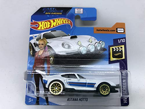 2020 Hot Wheels Astana Hotto White 1/10 HW Screen Time 214/250 (Short Card) Fast & Furious Spy Racers