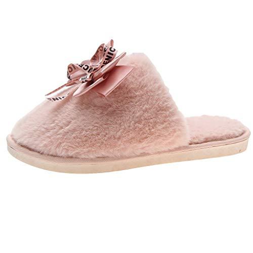 Anliyou warm Pantoffeln Damen Winter plüsch Hausschuhe mit rutschfest Hausschlappen bequem leicht weit Cosyshoe Indoor Outdoor Cute Slippers Hauspantoffeln Gästeschuhe Geschenke für Frauen
