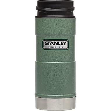 Stanley Classic One Hand Vacuum Mug 16oz/473 mL - Hammertone Green
