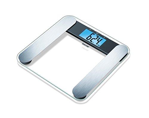 Beurer Glas-Diagnosewaage BF 220, mit extra großem LCD-Display, Tragkraft bis 180 kg