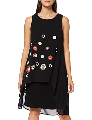 Desigual Damen Vest_Barrie Kleid, Schwarz (Negro 2000), (Herstellergröße:40)