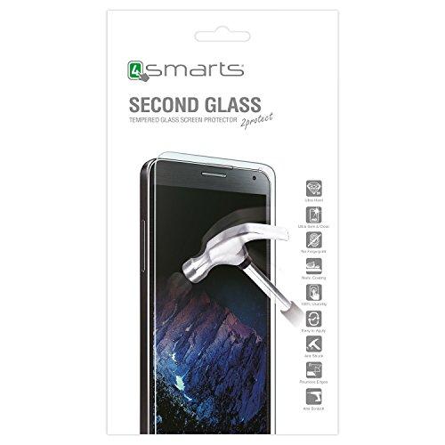 4smarts Second Glass/Tempered Glas/Schutzglas/Hartglas Bildschirmschutz für Wiko Sunset 2