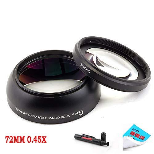 Pixco professionele 72mm 0.45X Wide Hoek macro conversie Lens Voor Canon Nikon Sony Panasonic met Lens reinigingspapier & reinigingspen