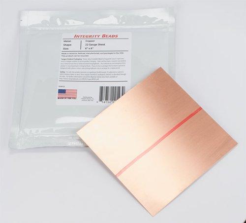 Copper 22 Gauge Sheet - 6 x 6
