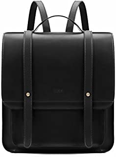 ECOSUSI Laptop Backpack Women Briefcase PU Leather Satchel Backpack for School Messenger Bag Fits up to 14 Inch Laptop wit...