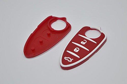 car passion Tasti Gommino Chiave Alfa Romeo Mito Giulietta Gomma Telecomando rossi