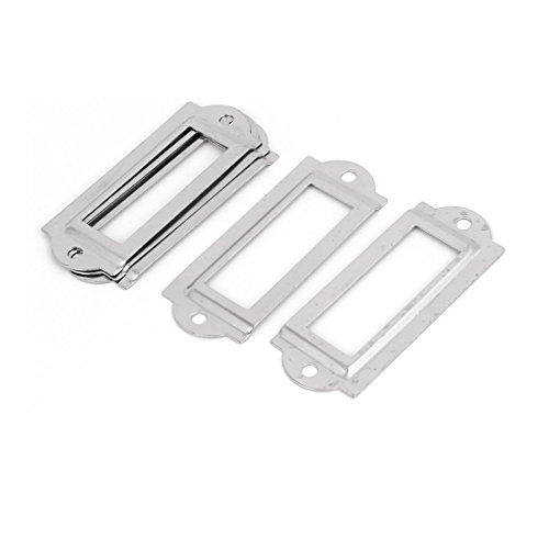 5 Stück Silber Schrank Aktenschrank Etikettenrahmen Schrankrahmen Rahmen de