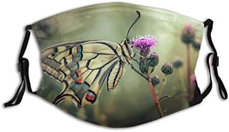 Mond Guard Gezicht Guard Vlinder Bloemen Flora Vleugels Insect Macro Roze Bokeh Tuin Zomer Bandana Balaclava Gezichtsversieringen FaCe CoVer Met 2 Filters