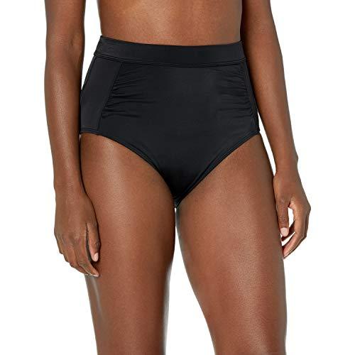Amazon Essentials Women's High-Waisted Bikini Bottom Unterwäsche Stil, Schwarz, M
