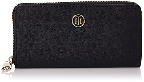 Tommy Hilfiger Honey Large ZA Wallet, Portafoglio Donna, Nero (Black), 14x27x40 cm (W x H x L)