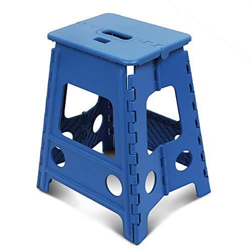 踏み台 SZHTFX 折り畳み ステップ コンパクトスツール 脚立 丈夫で十分安全 大人/子供兼用 折りたたみはしご 簡単収納/開封 キッチン トイレ キャンプ用 (ブルー 高さ45cm)