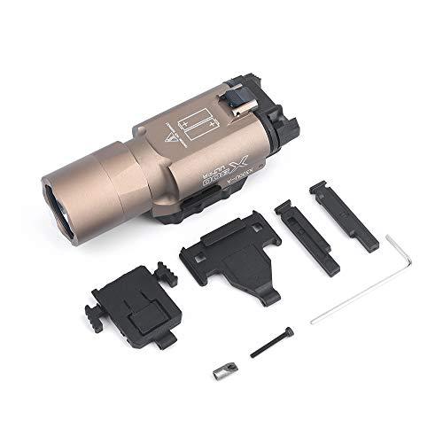 WADSN X300 ULTRA pistola de luz 510 lúmenes LED luz de exploración linterna táctica para caza Airsoft Picatinny (DE)
