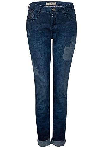 Street one Hosen Denim-Mika.lw.low crotch.loose blue high low effect wash 33/32