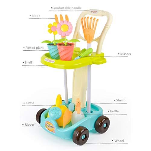 LTLCBB Gartenwagen, Gartengeräte Spielset mit Zubehör, Montage und Demontage, 12 Zubehör