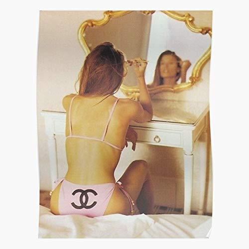 Make Fashion Bikini Up Swim Vogue Model Designer Regalo para la decoración del hogar Wall Art Print Poster 11.7 x 16.5 inch