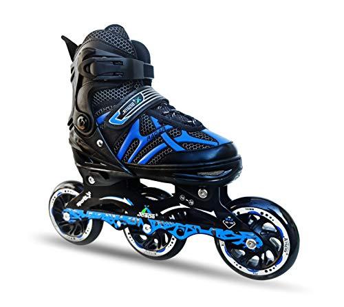 JASPO Radar Hydra-MAX Adjustable Inline Shoe Skates for All Age Groups (Blue, Medium (1-4 UK))