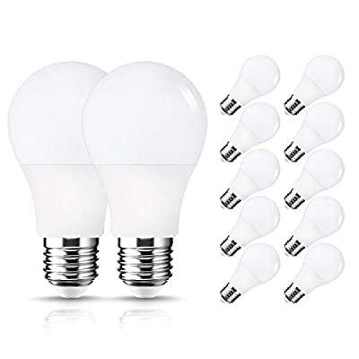 LOHAS LED 9W A19 E26 3000k Daylight White/Soft White LED Light Bulbs,Brightest 60 Watt Incandescent Bulbs Equivalent LED bulb