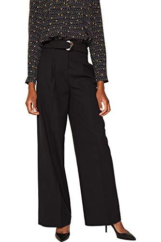ESPRIT Collection Damen 109Eo1B036 Hose, Schwarz (Black 001), W38/L32(Herstellergröße:38/32)
