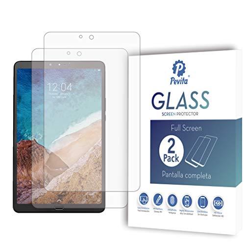 Pevita Protector de Pantalla Compatible con Xiaomi Mi Pad 4, 8'' [2 Packs] Cristal Templado para Xiaomi Mi Pad 4, 8''. Dureza 9H, Sin Burbujas, Fácil Instalación.