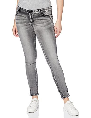 Vero Moda VMFIVE LW S. Slim Vi Jeans GU968 Noos, Gris (Light Grey Denim), 34W / 34L para Mujer