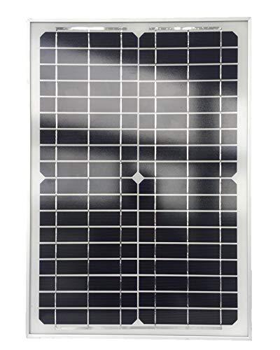 VILLAGEBOOM - Panel solar, 20 W, ideal para baterías de 12 V, bombas de estanque, caravanas, barcos, casas de jardín, etc.