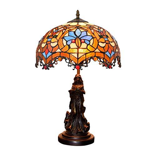 GUOGEGE Tiffany tafellamp, 19,7 inch hoog gekleurd glas bloemen kunst wijnoogst bureau licht decor woonkamer slaapkamer nachtgemaakt geschenk YF247