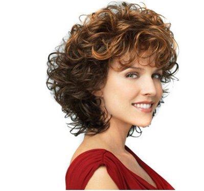ahom (perruque Noble Perruques, Perruques Mesdames européenne Petit volume dual-gradient haute température Fil Perruques, Perruques courtes perruque
