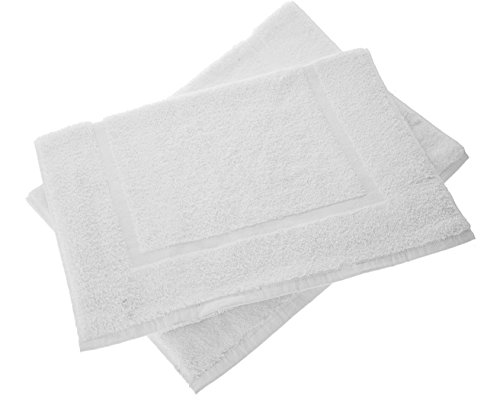 """Luxery Hotel-Spa Tub-Shower Step Out Bath mat, Bathroom Mat, 2 Pack, 100% Cotton, Extremely Soft, Extra Absorbent, Comfort with Style, Machine Washable Shower Rug (21x31"""") Full Reversible mat towel"""