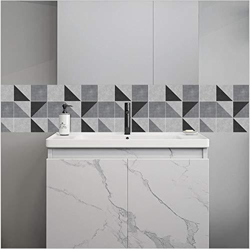 ZCQFFF Grijze tegels stickers woonkamer keuken badkamer achtergrond waterdicht verwijderbare muurstickers
