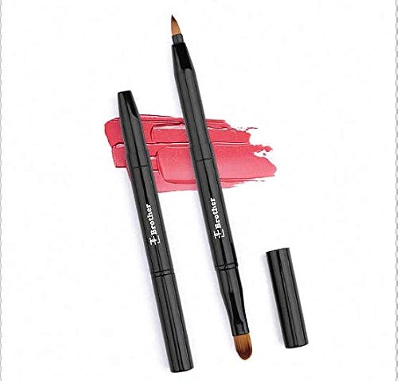 通行人出発する女王リップブラシ、アイブロウブラシ2in1(ツーインワン) 伸縮機能付き ソフトでフィット感のある化粧筆(超柔らかい)。 携帯便利。ギフト用、旅行用に最適。