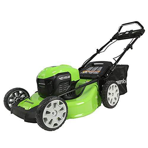 Greenworks MO40L03 Lawn Mower, 21″, Green
