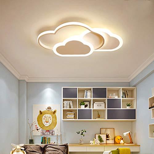 Plafonnier LED Ronde Moderne Minimaliste Mode Lampe Plafond Noir Cadre Acrylique Lampe De Plafond Pour Vivre Lampe Chambre Salle D'étude Lampisterie Éclairage Plafond Bureau Villa,52cm/3000K/42W