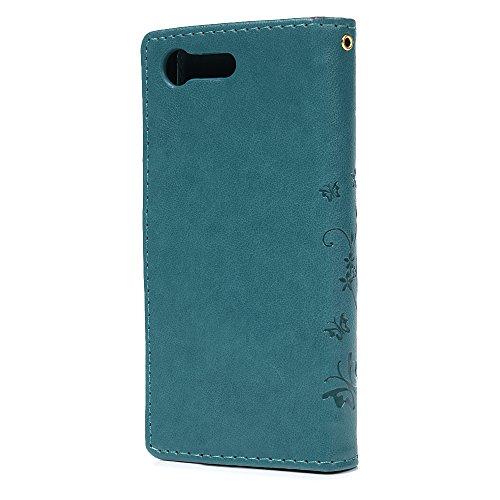 Sony Xperia X Compact Lederhülle, Flipcase, Blau - 3