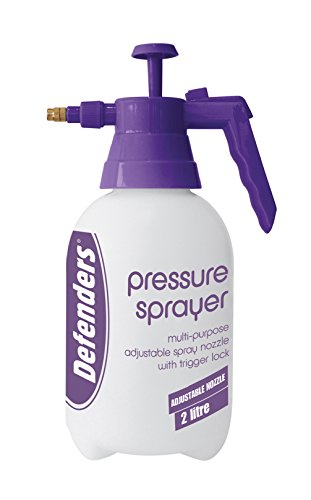 Defenders STV091 2 Litre Pressure Sprayer (Pump-Action Bottle, Adjustable Nozzle, Use with Water or Soluble Products), 29.5 cm*12.0 cm*12.0 cm