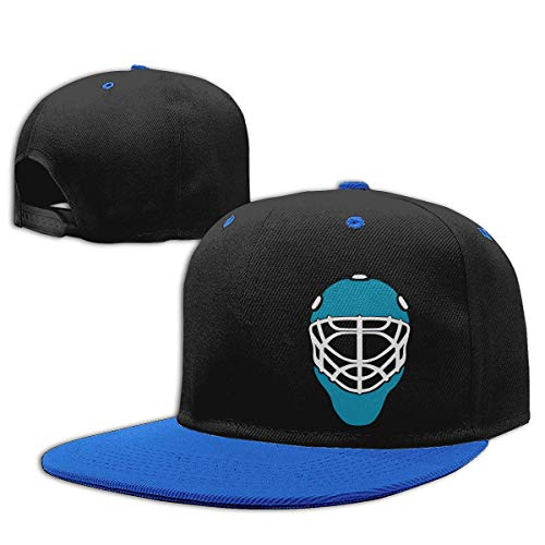 WYYCLD Fashion hat Cap Boys Girls Trucker Hat. Ice Hockey Mask Goalie Helmet Blue Flat Bill Baseball Cap Hip-Hop